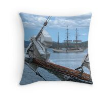 We are sailing, We are sailing, home again across the sea.......! Throw Pillow