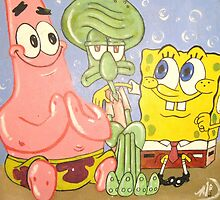 Chillin wit da Home boy's-Sponge Bobs crew by Marc G. Doutherd by Marc  Doutherd