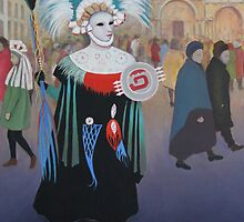 Aztec Girl Carnival Venice by Howard Sparks