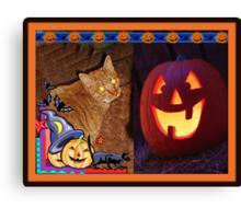 Happy Halloween - Cat 2 Canvas Print