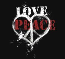 Love and Peace Symbol Heart by ArtVixen