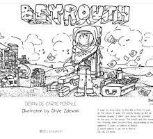 """Beirut"" in words & image (S.Zalewski) by Eric Tchijakoff"