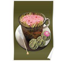 。◕‿◕。 ORGANIC FLOWERING TEA 。◕‿◕。  Poster