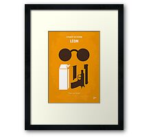 No239 My LEON minimal movie poster Framed Print