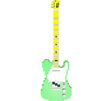 Lego T-Style Guitar - Turquoise by geekmorris
