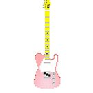 Lego T-Style Guitar - Pink by geekmorris