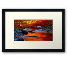 Copper Stream Framed Print