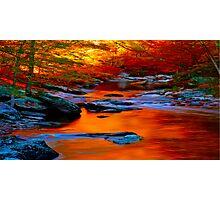 Copper Stream Photographic Print