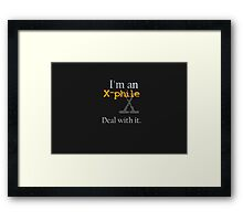 Deal with it: X-files Framed Print