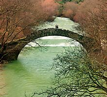 Old stone bridge for two by Hercules Milas
