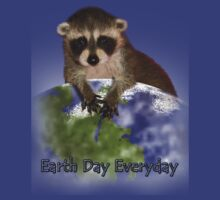 Earth Day Everyday Raccoon by jkartlife