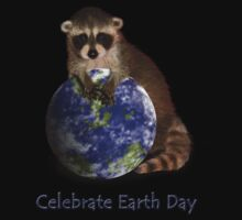 Celebrate Earth Day Raccoon by jkartlife