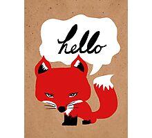 The Fox Says Hello Photographic Print