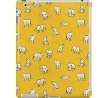 Indian Baby Elephants Yellow iPad Case/Skin