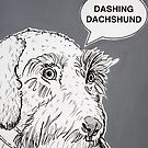 Dashing Dachshund ( Grey ) by Adam Regester