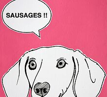 Sausages ( Pink ) by Adam Regester