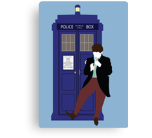 Two and the TARDIS Canvas Print