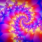 Multi-Coloured Spiral Fractal by KittyBitty1