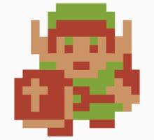 Legend Of Zelda 8bit Link by retrorebirth