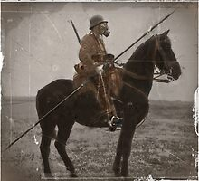 German Lancer on Horseback WWI by dianegaddis