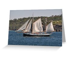 """""""Tecla"""", Tall Ships Departure, Manly, Australia 2013 Greeting Card"""