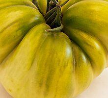 Green Tomato Macro  by Sandra Foster