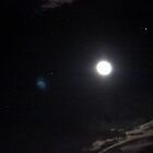 Moon and Jupiter and other Stars by virginian