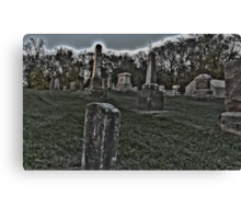 Haunted Cemetery Canvas Print
