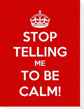 Stop Telling Me To Be Calm by Royal Bros Art