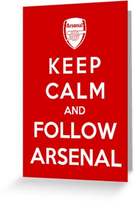 Keep Calm And Follow Arsenal by Royal Bros Art