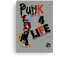 """Punk 4 Life"" Canvas Print"
