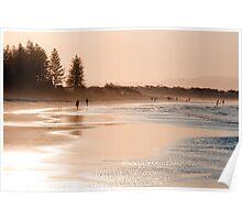 Shimmering sands - Byron sunset Poster