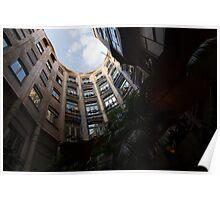 A Courtyard Curved Like a Hug - Antoni Gaudi's Casa Mila, Barcelona, Spain Poster