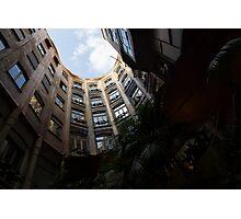 A Courtyard Curved Like a Hug - Antoni Gaudi's Casa Mila, Barcelona, Spain Photographic Print
