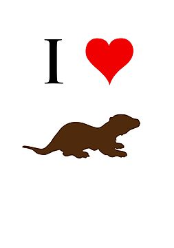 I Love Otters by jezkemp