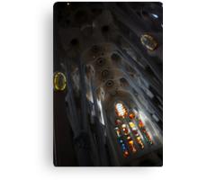 The Fascinating Interior of Sagrada Família - Antoni Gaudi's Masterpiece Canvas Print