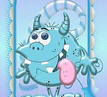 Cute Blue Monster by LoneAngel