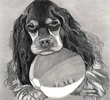 Cocker Spaniel Dog Portrait by Oldetimemercan