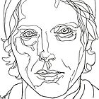Portrait: Mads Mikkelsen in lines by Panthouse