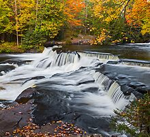Upper Bond Falls in Autumn by Kenneth Keifer