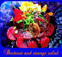 Vegan Beetroot and Orange Salad by ©The Creative  Minds