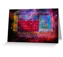 Stardust Periodic Table Greeting Card
