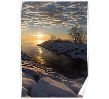 Sunshine on the Ice - Lake Ontario, Toronto, Canada Poster