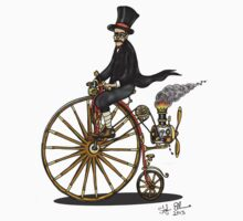 STEAMPUNK PENNY FARTHING BICYCLE by squigglemonkey