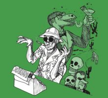 Hunter S. Thompson writing by santilopez