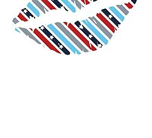 Stars and Stripes Lips by kwg2200