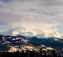 Winter mountain range landscape of Yukon Territory, Canada by ImagoBorealis