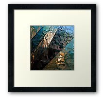 METAL TEXTURE ONE Framed Print