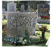 Grave of Gustav Klimt. Poster