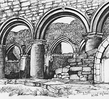 Boyle Abbey by CapallGlas